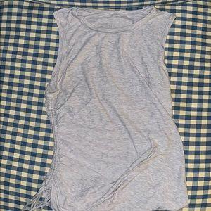 Gray Lululemon scrunch tank top